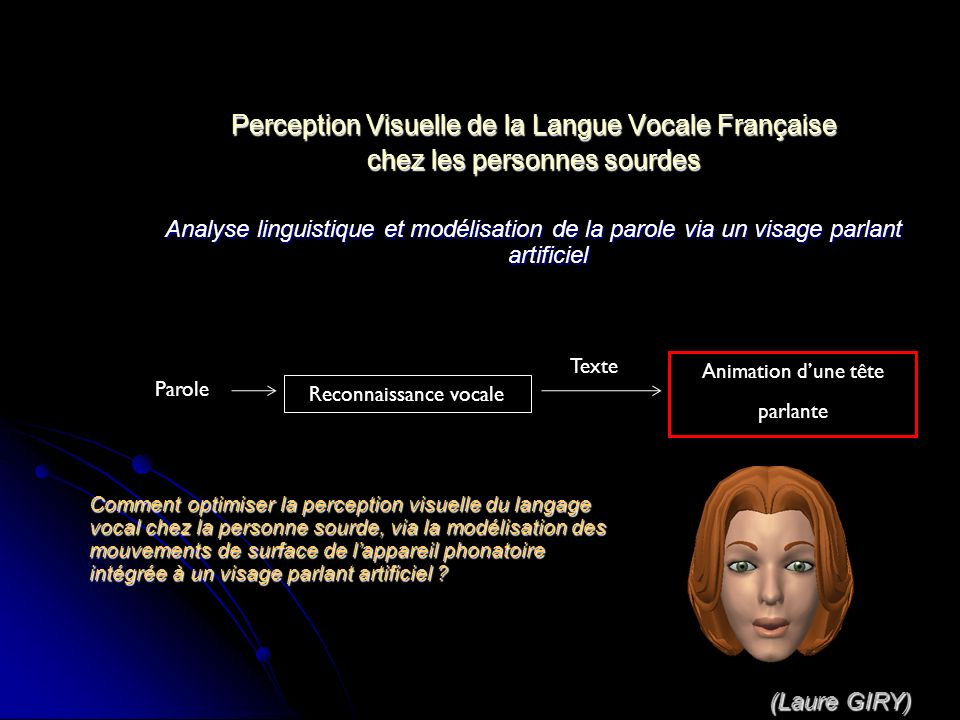 Perception Visuelle de la Langue Vocale Française