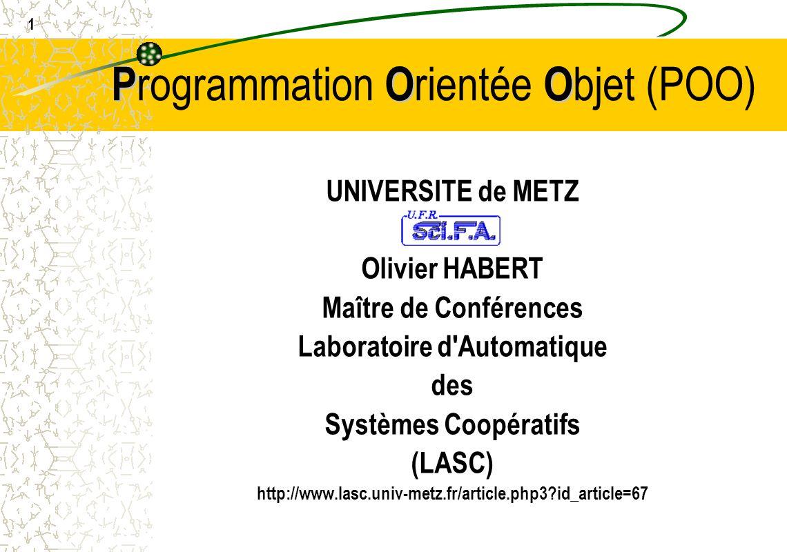 Programmation Orientée Objet (POO)