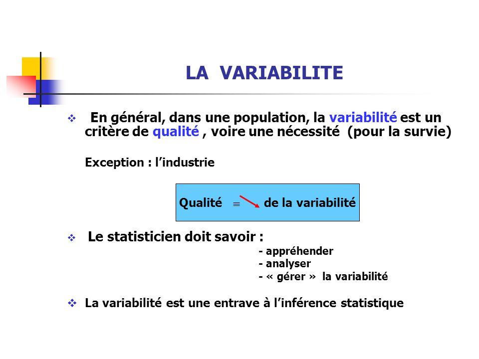 Qualité  de la variabilité
