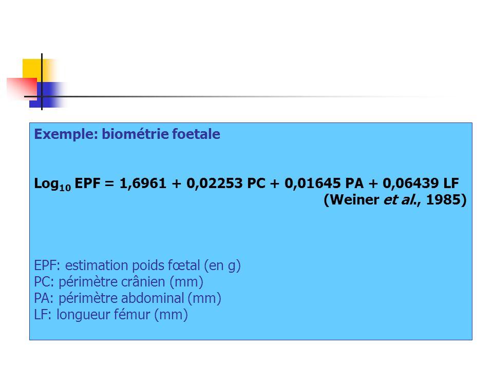 Exemple: biométrie foetale