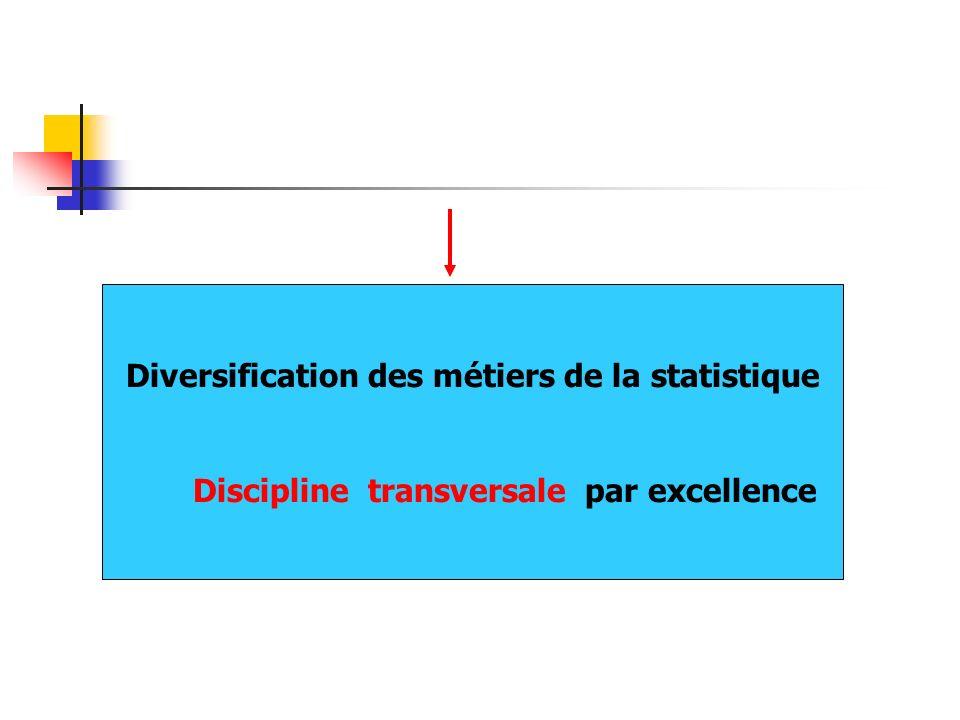 Diversification des métiers de la statistique