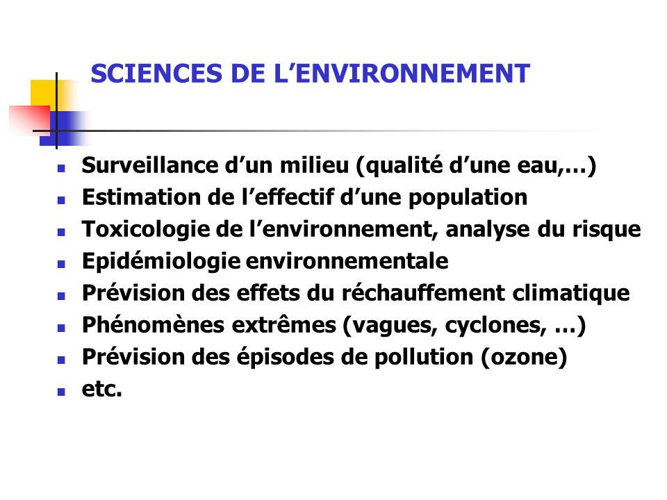 SCIENCES DE L'ENVIRONNEMENT