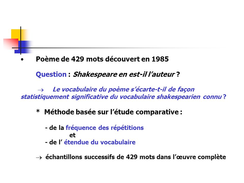 Poème de 429 mots découvert en 1985