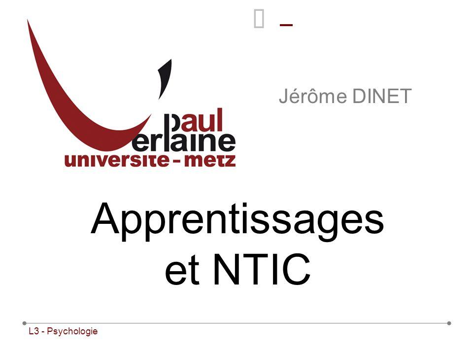 Apprentissages et NTIC