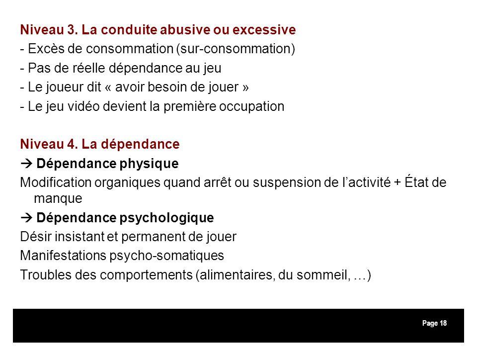 Niveau 3. La conduite abusive ou excessive