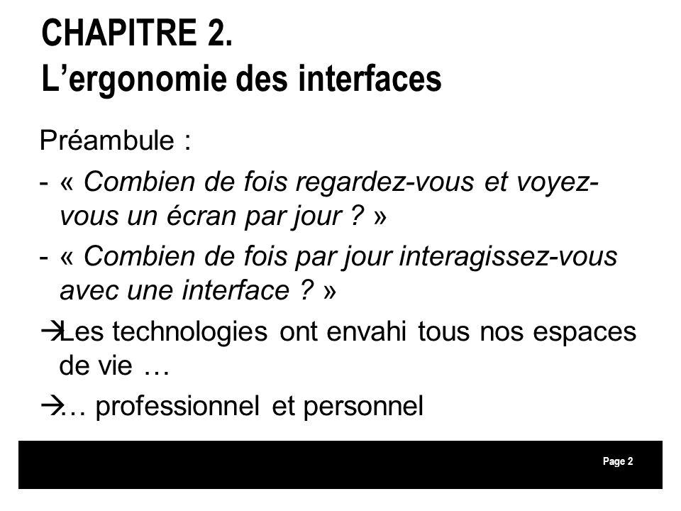 CHAPITRE 2. L'ergonomie des interfaces