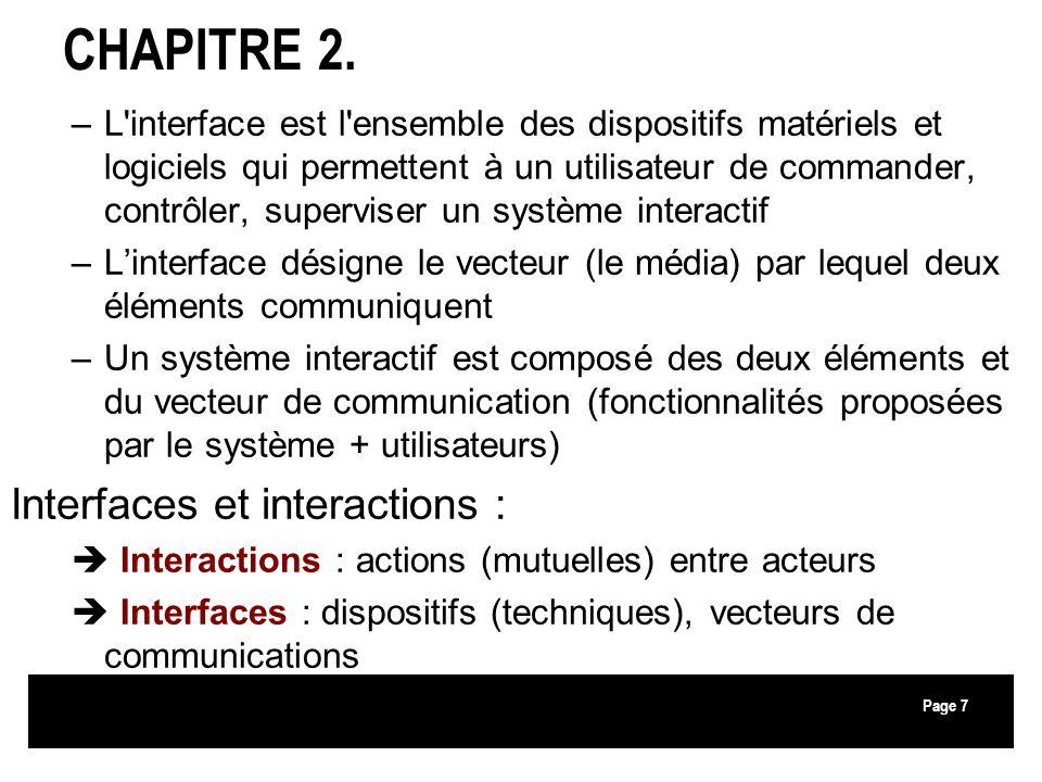 CHAPITRE 2. Interfaces et interactions :