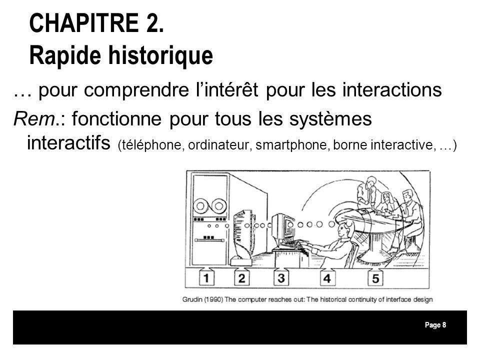CHAPITRE 2. Rapide historique