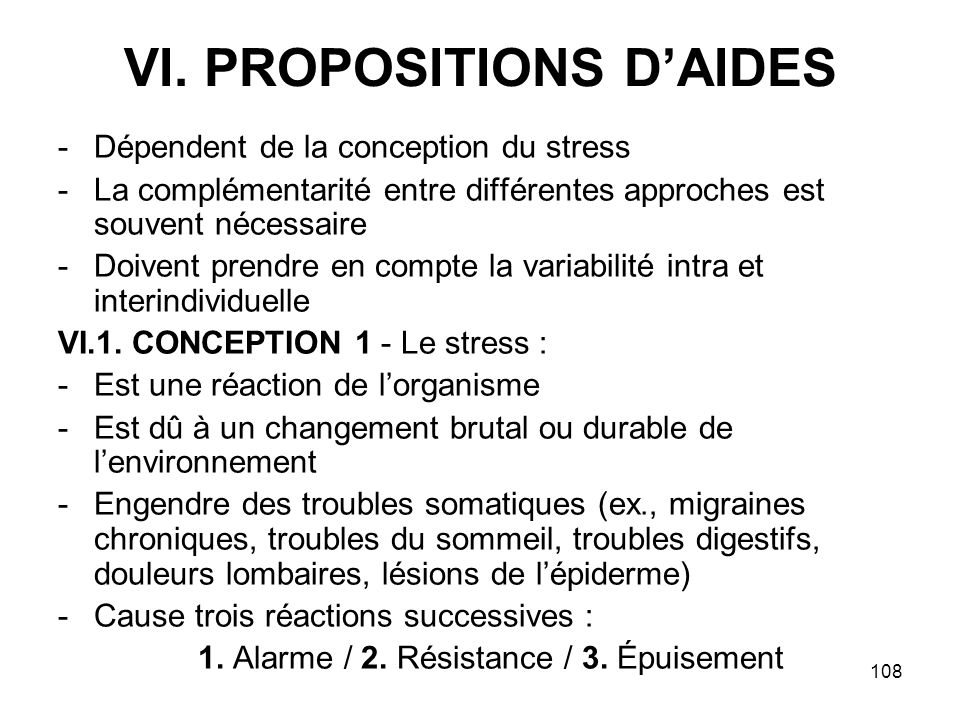 VI. PROPOSITIONS D'AIDES