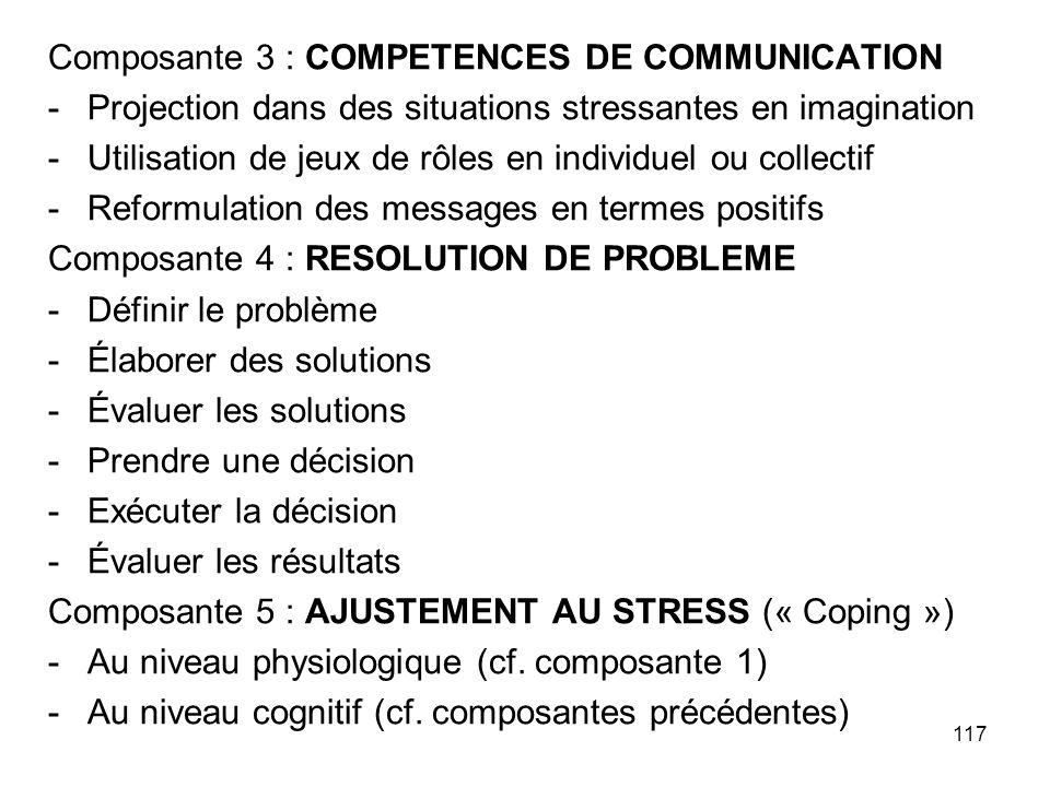 Composante 3 : COMPETENCES DE COMMUNICATION