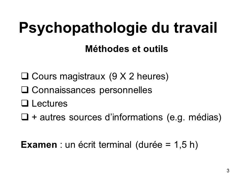 Psychopathologie du travail