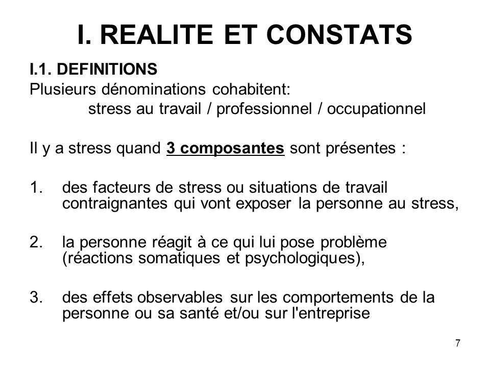 stress au travail / professionnel / occupationnel