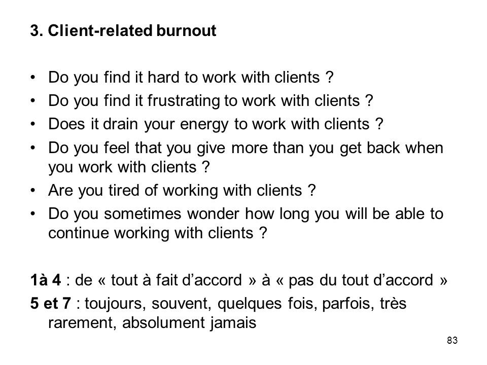 3. Client-related burnout
