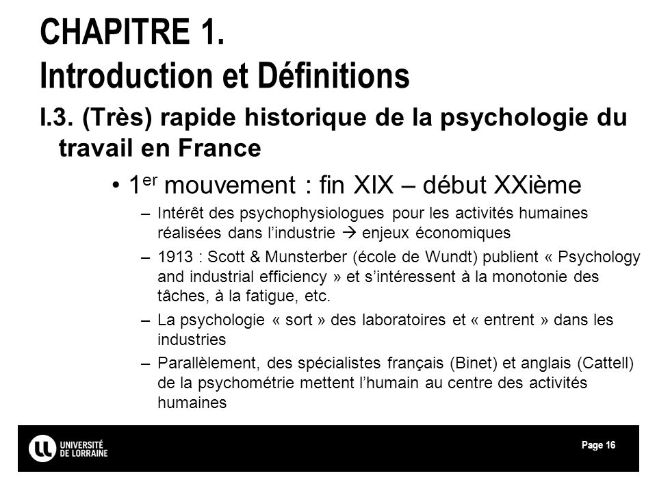 initiation  u00e0 la psychologie du travail  u0026 ergonomie