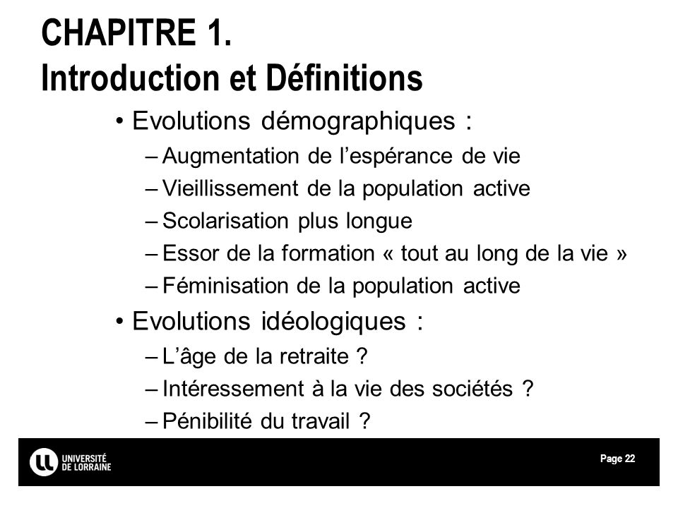 CHAPITRE 1. Introduction et Définitions