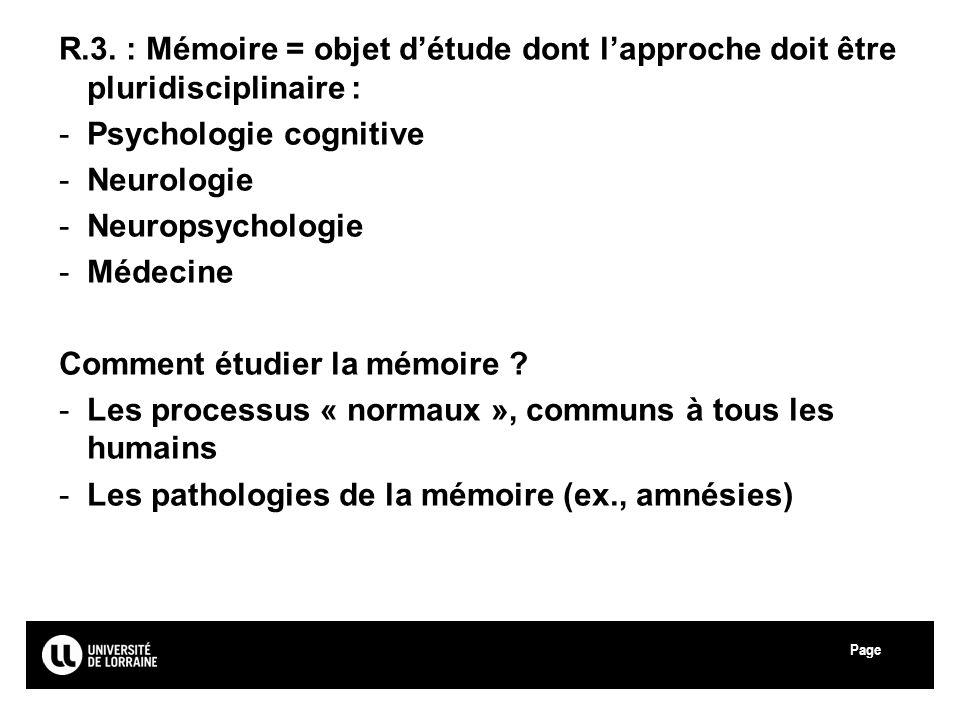 Psychologie cognitive Neurologie Neuropsychologie Médecine