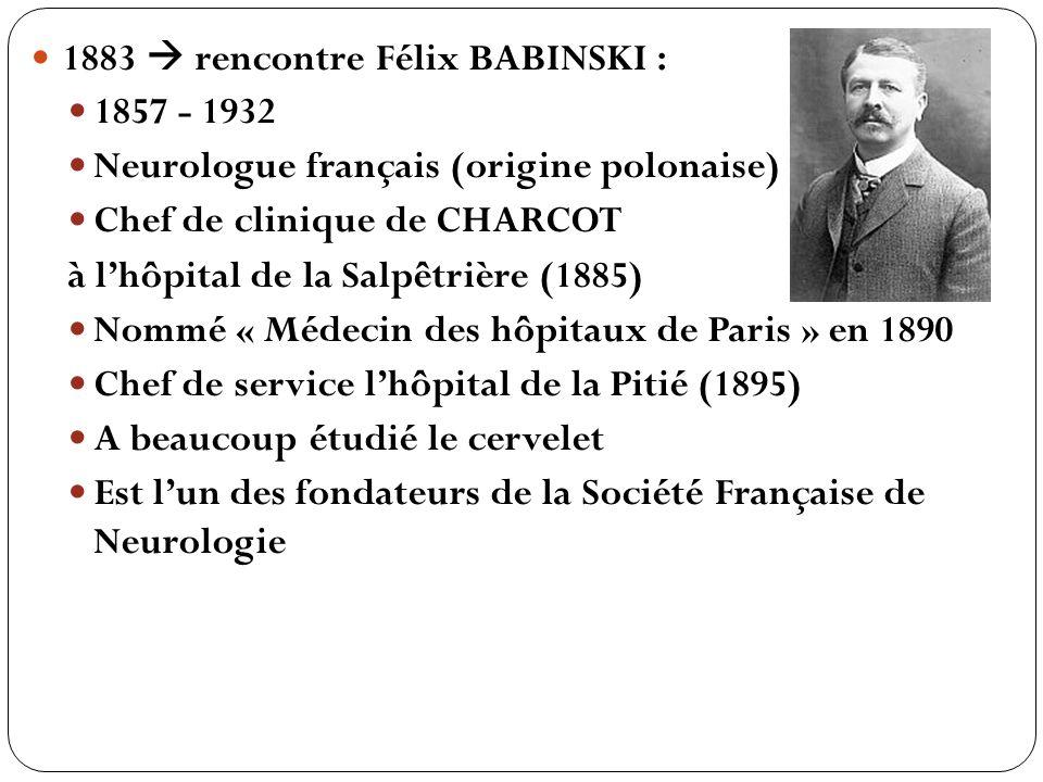 1883  rencontre Félix BABINSKI :