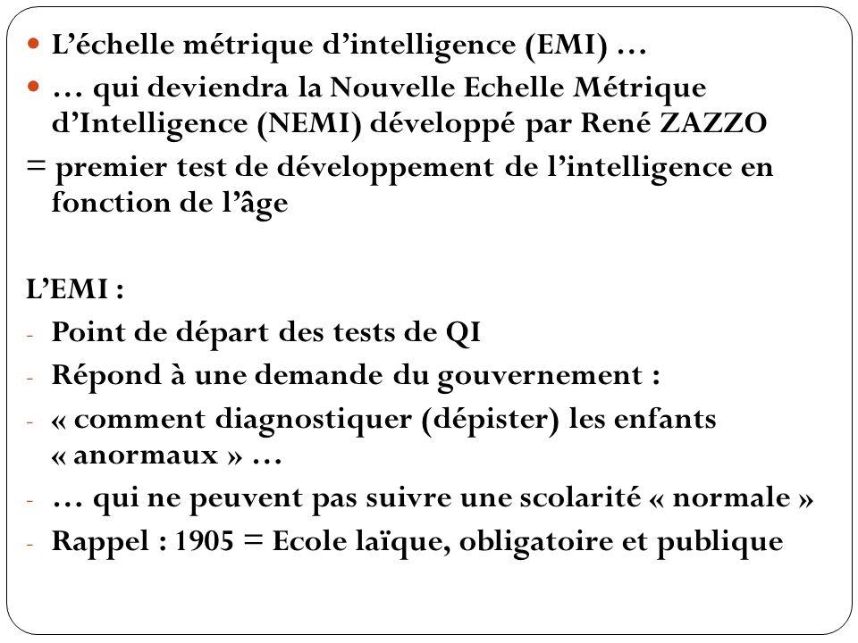 L'échelle métrique d'intelligence (EMI) …