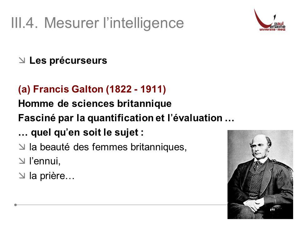 III.4. Mesurer l'intelligence