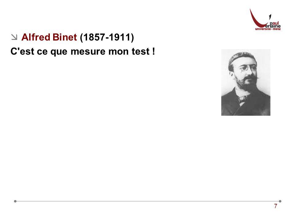 Alfred Binet (1857-1911) C est ce que mesure mon test !