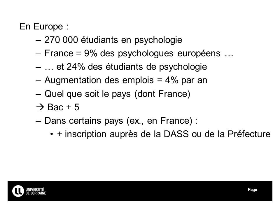 270 000 étudiants en psychologie