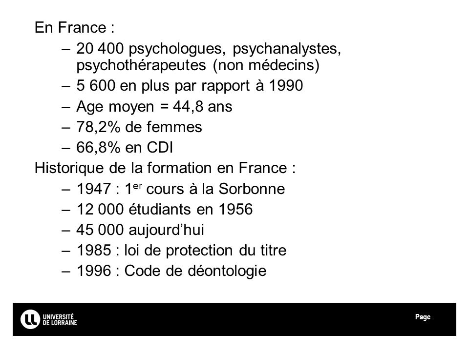 20 400 psychologues, psychanalystes, psychothérapeutes (non médecins)