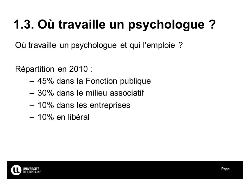 1.3. Où travaille un psychologue