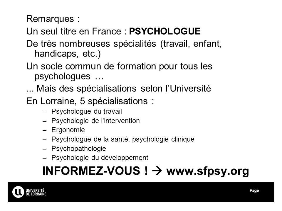 INFORMEZ-VOUS !  www.sfpsy.org