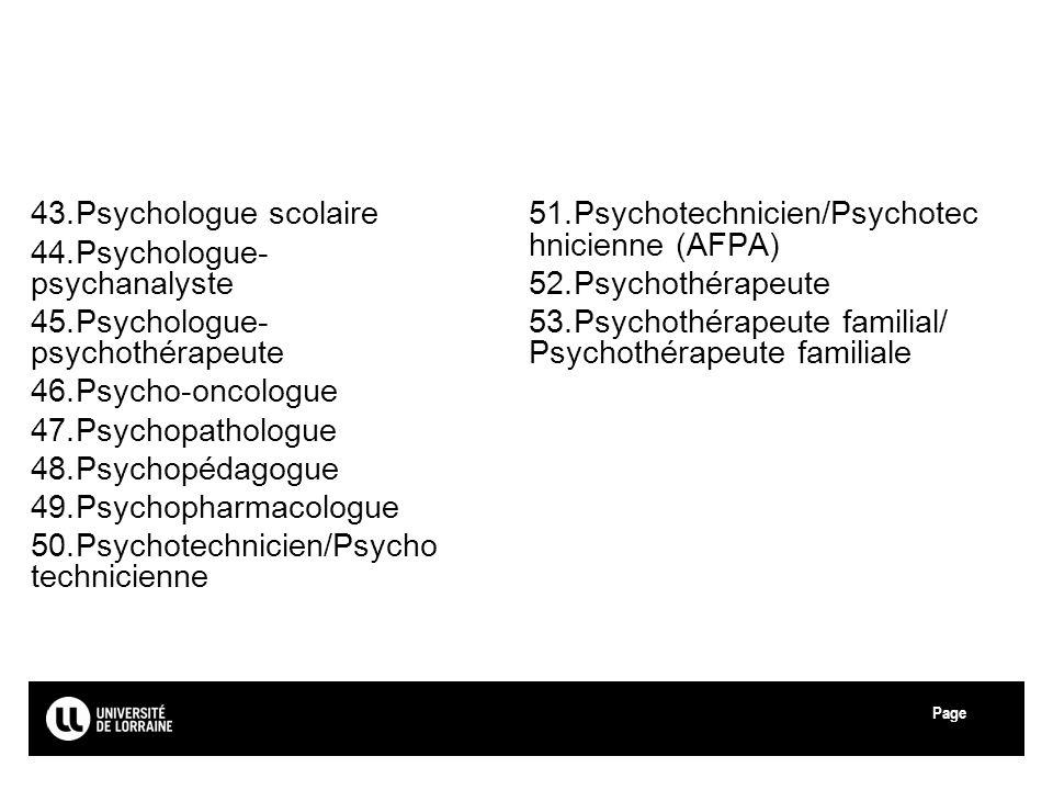 Psychologue-psychanalyste Psychologue-psychothérapeute