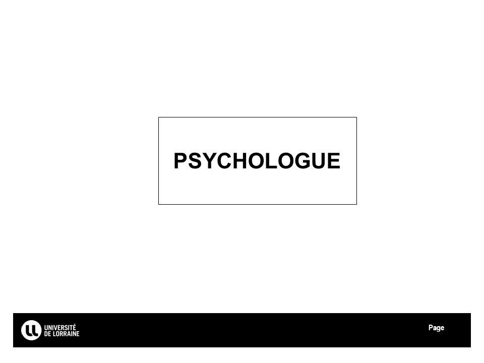 PSYCHOLOGUE Université de Lorraine