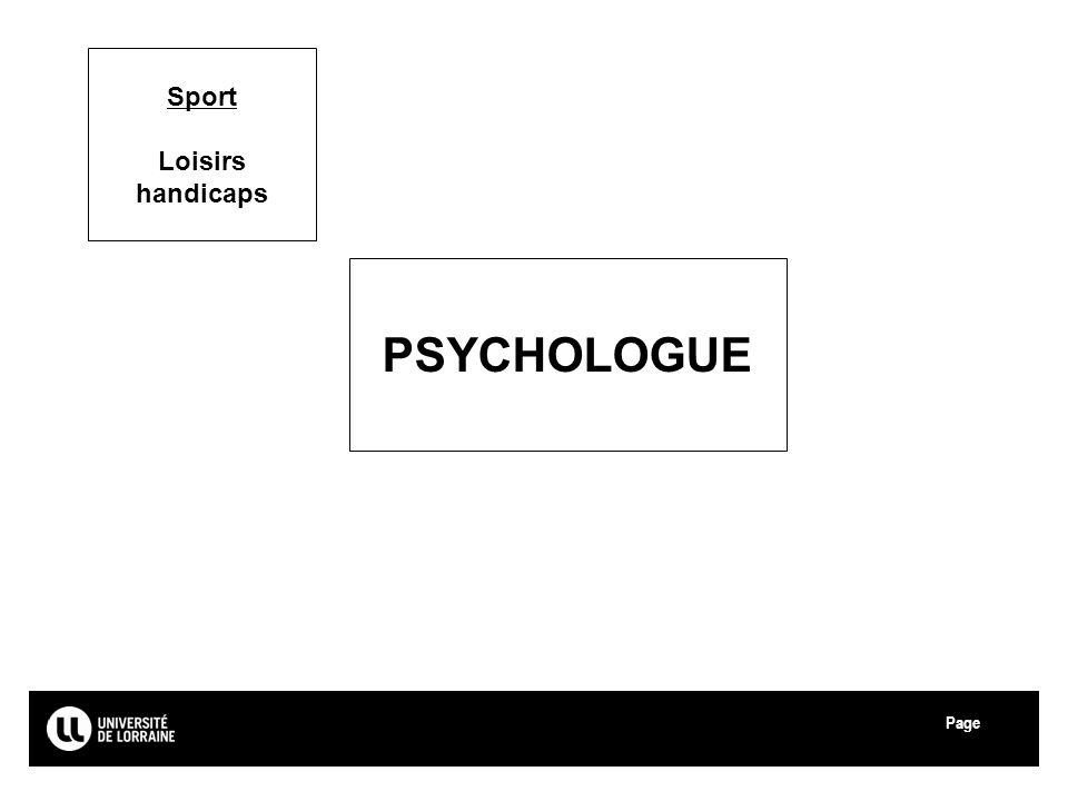 Sport Loisirs handicaps PSYCHOLOGUE Université de Lorraine