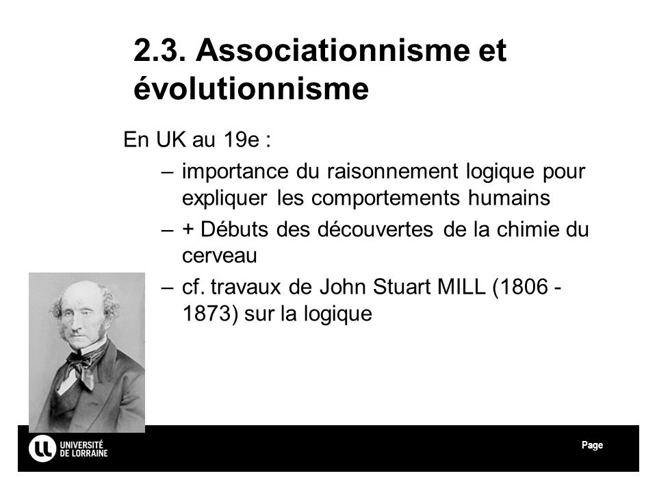 2.3. Associationnisme et évolutionnisme