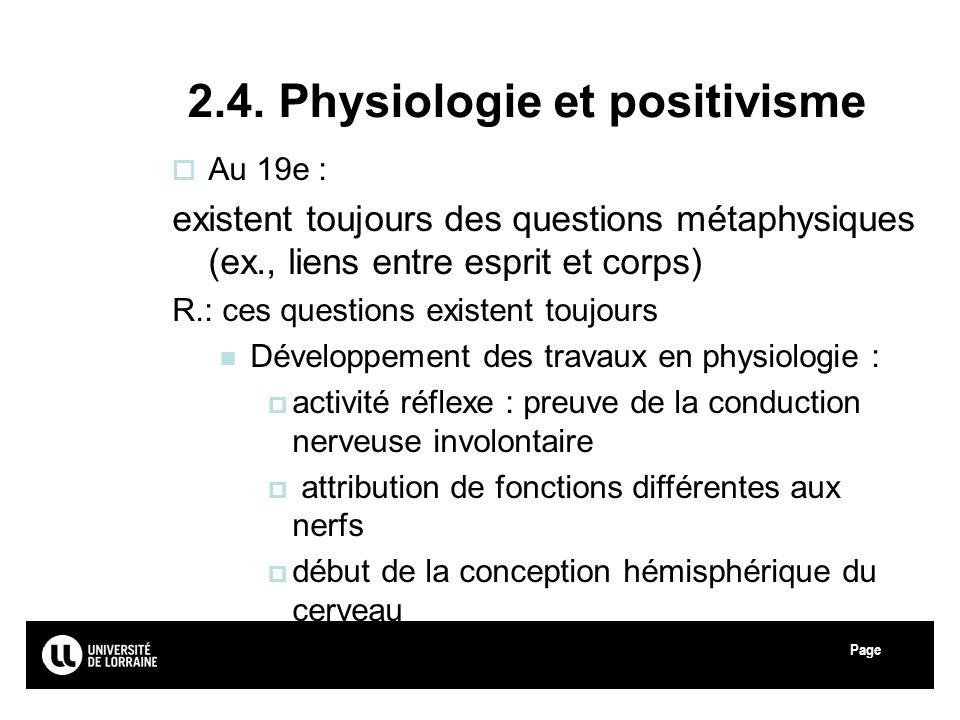 2.4. Physiologie et positivisme