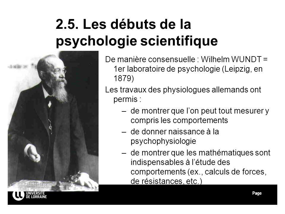 2.5. Les débuts de la psychologie scientifique