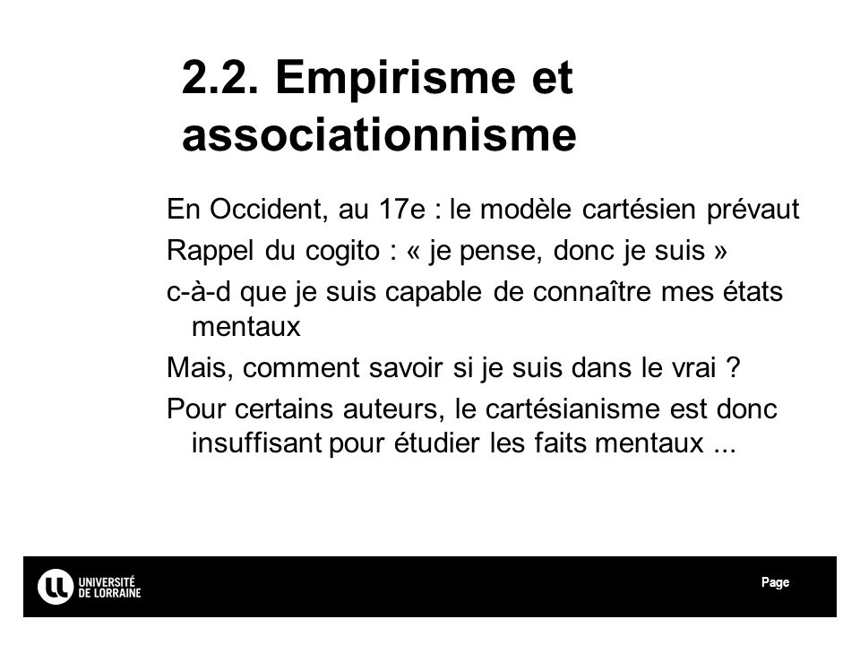 2.2. Empirisme et associationnisme
