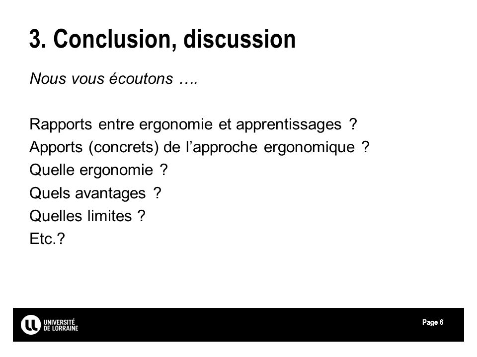 3. Conclusion, discussion