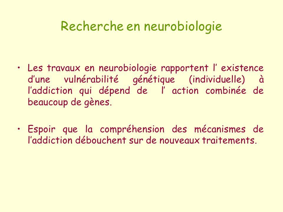 Recherche en neurobiologie