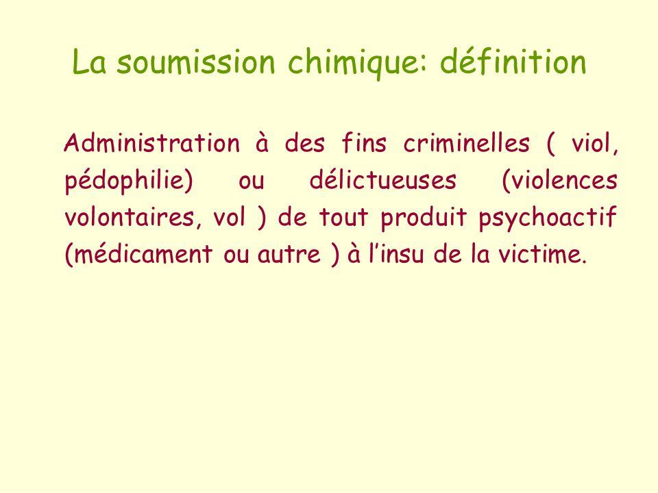 La soumission chimique: définition