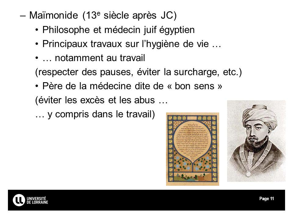 Maïmonide (13e siècle après JC)