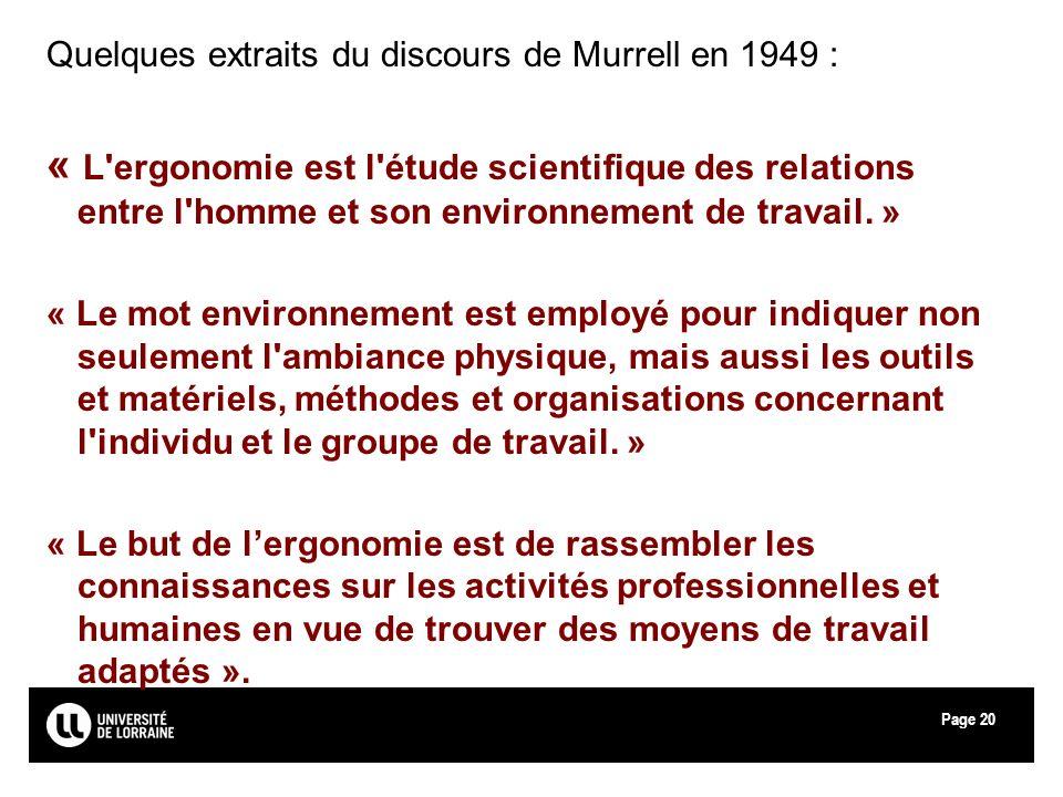 Quelques extraits du discours de Murrell en 1949 :