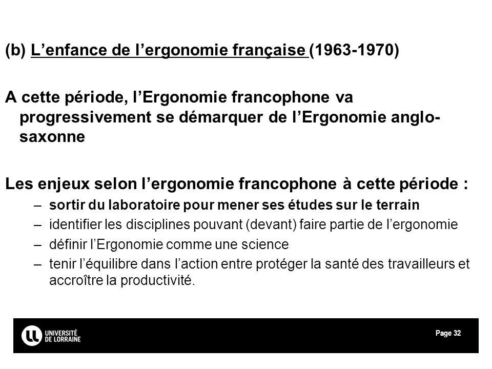 (b) L'enfance de l'ergonomie française (1963-1970)