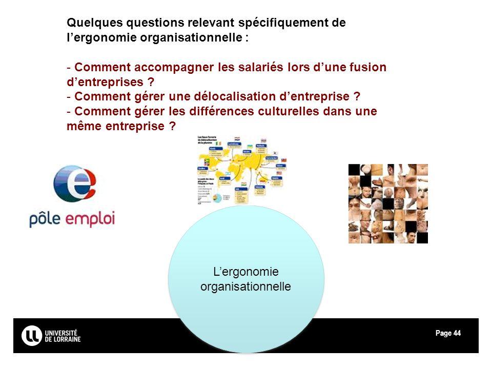 L'ergonomie organisationnelle