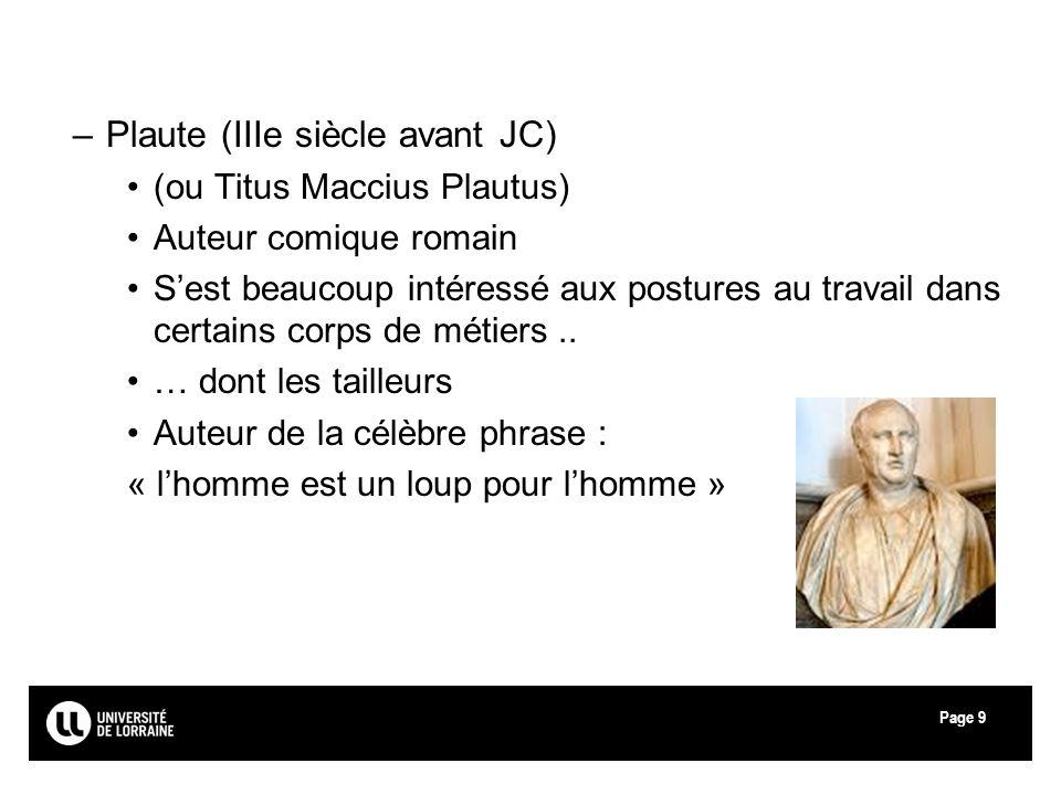 Plaute (IIIe siècle avant JC)