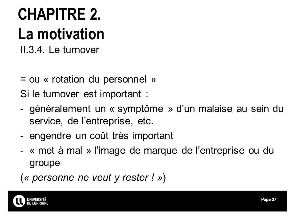 CHAPITRE 2. La motivation