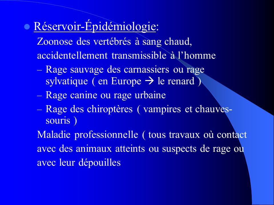 Réservoir-Épidémiologie:
