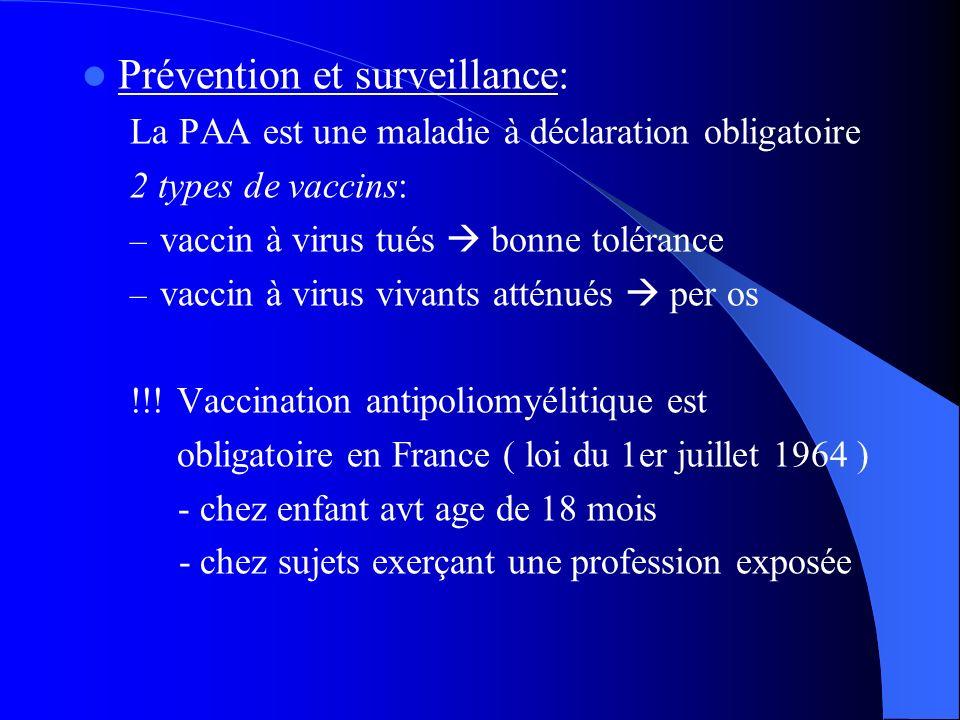 Prévention et surveillance: