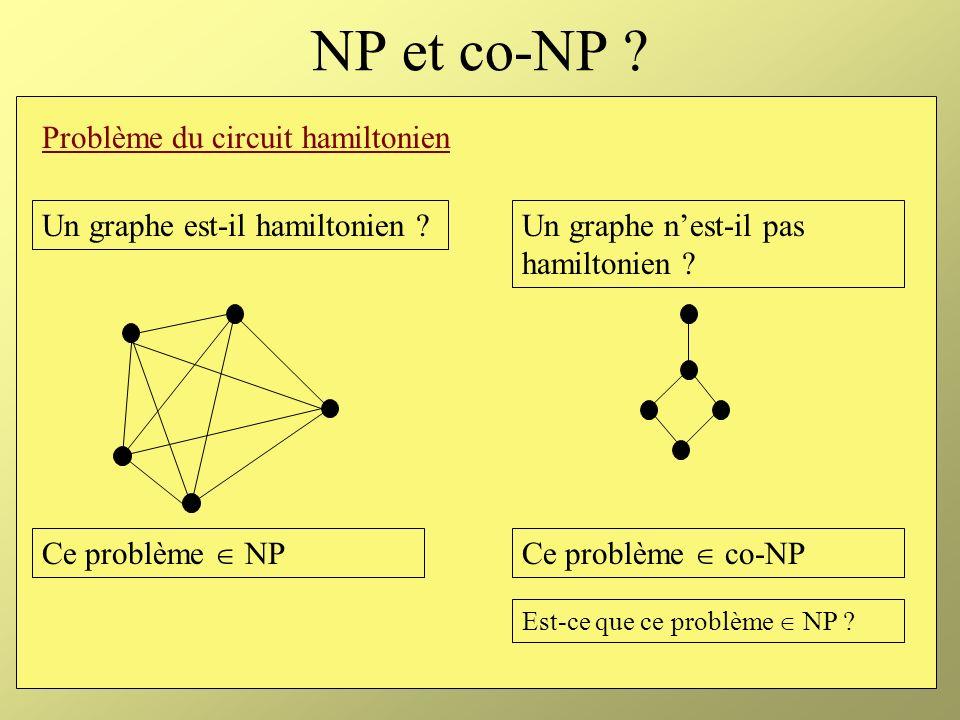 NP et co-NP Problème du circuit hamiltonien