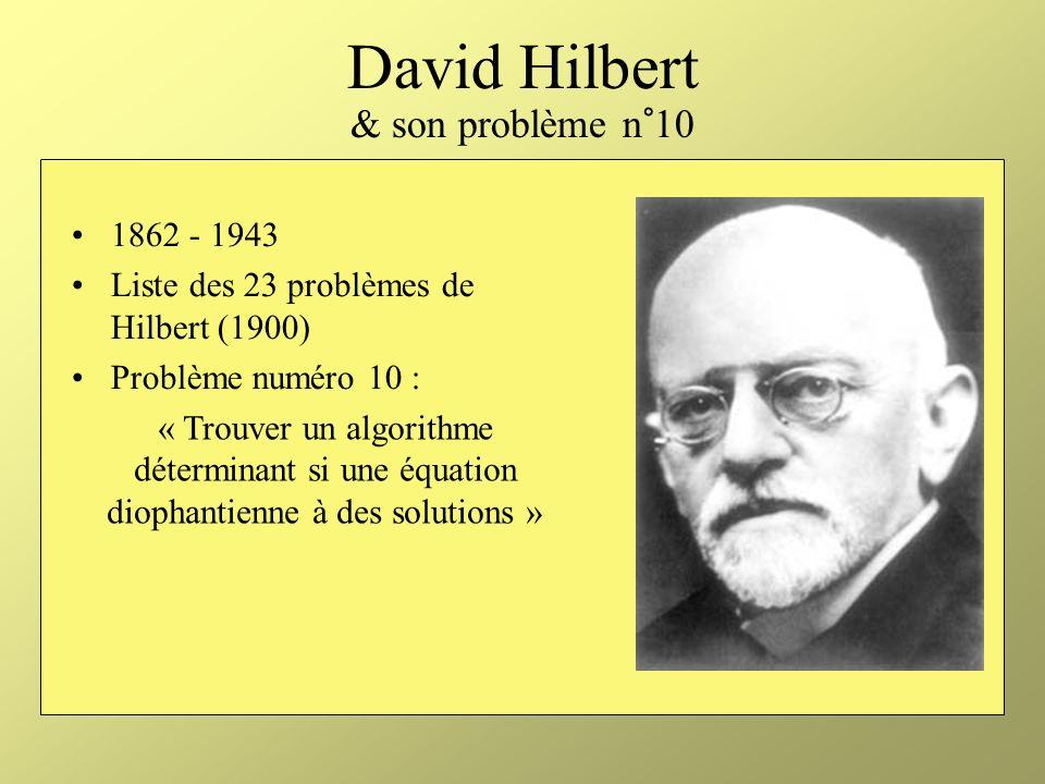 David Hilbert & son problème n°10
