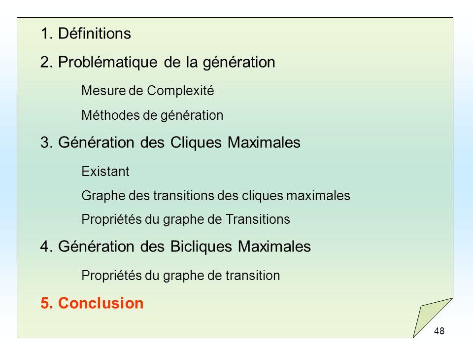Problématique de la génération Mesure de Complexité