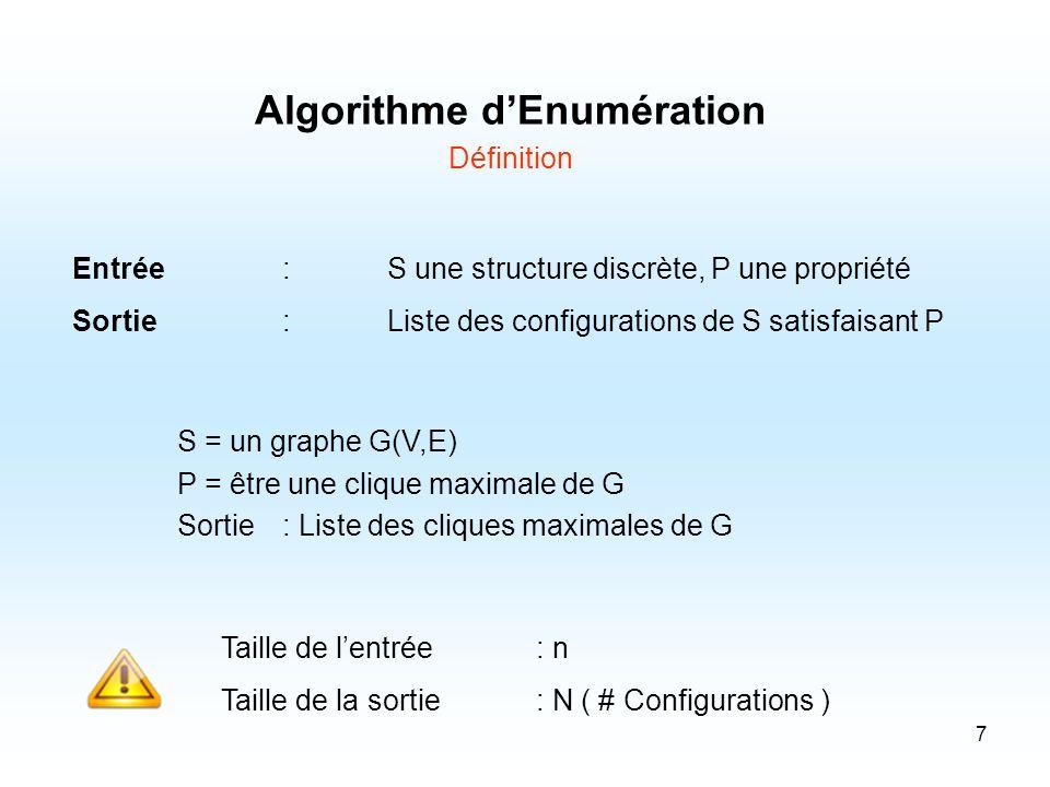 Algorithme d'Enumération